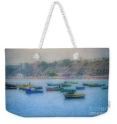 Boats In Blue Twilight - Lima, Peru Weekender Tote Bag