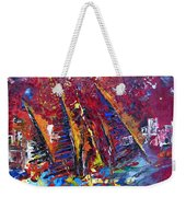Boats In Calpe 02 Spain Weekender Tote Bag by Miki De Goodaboom