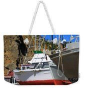 Boats In Drydock Weekender Tote Bag