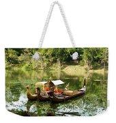 Boats In Lake Ankor Thom Weekender Tote Bag
