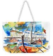 Boats In Tavira In Portugal 02 Weekender Tote Bag