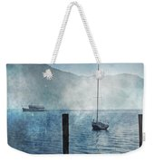 Boats In The Fog Weekender Tote Bag by Joana Kruse