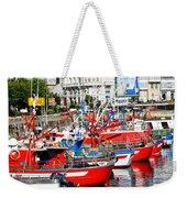 Boats In The Harbor - La Coruna Weekender Tote Bag