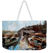 Boats In The Slough Weekender Tote Bag
