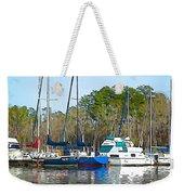 Boats In The Water Weekender Tote Bag