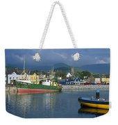 Boats Moored At A Harbor, Dingle Weekender Tote Bag