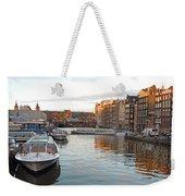 Boats Of Amsterdam Weekender Tote Bag