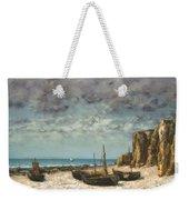 Boats On A Beach, Etretat Weekender Tote Bag