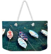 Boats On A Line Weekender Tote Bag