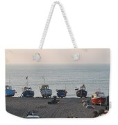Boats On Beach Weekender Tote Bag