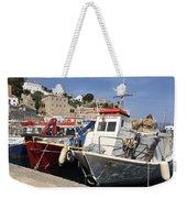 Boats On Hydra Weekender Tote Bag
