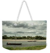 Boats On River Loire - France Weekender Tote Bag