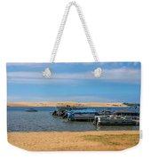 Boats On Silver Lake Michigan Weekender Tote Bag