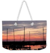 Boats On The Bay Weekender Tote Bag