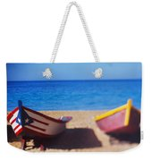 Boats On The Beach, Aguadilla, Puerto Weekender Tote Bag