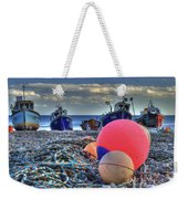 Boats On The Beach At Beer Weekender Tote Bag