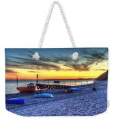 Boats On The Beach At Branscombe  Weekender Tote Bag