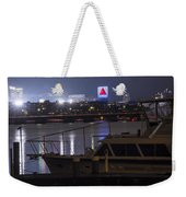 Boats On The Charles River Citgo Sign Boston Massachusetts Weekender Tote Bag