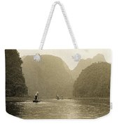 Boats On The River Tam Coc No1 Weekender Tote Bag