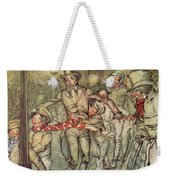 Bob Cratchit Went Down A Slide On Cornhill Weekender Tote Bag