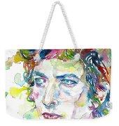 Bob Dylan - Watercolor Portrait.19 Weekender Tote Bag