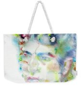Bob Dylan - Watercolor Portrait.4 Weekender Tote Bag
