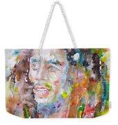 Bob Marley - Watercolor Portrait.17 Weekender Tote Bag