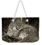 Bobcat In Black And White Weekender Tote Bag