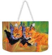 Bobcat Kittens 1 Weekender Tote Bag