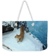 Bobcat On A Mountain Ledge Weekender Tote Bag