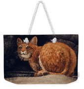 Bobcat On Ledge Weekender Tote Bag