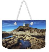 Bob's Cave At Mumbles Lighthouse Weekender Tote Bag