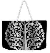 Bodhi Tree_iv_gold05_greyscale Weekender Tote Bag