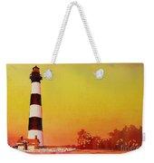 Bodie Island Lighthouse Sunset Weekender Tote Bag