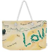 Body Prints Foundation Of Love Weekender Tote Bag