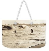 Body Surfing Family Weekender Tote Bag