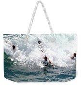 Body Surfing The Ocean Waves Weekender Tote Bag