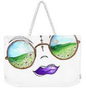 Boho Gypsy Daisy Field Sunglasses Reflection Design From The Aroon Melane 2014 Collection By Madart Weekender Tote Bag