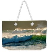 Boiler Bay Waves Rolling Weekender Tote Bag by Mike  Dawson