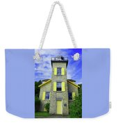 Bois Blanc Island Historic Lighthouse Weekender Tote Bag by Sally Sperry