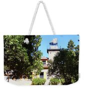 Bois Blanc Island Lighthouse Tower And Living Quarters Weekender Tote Bag by Sally Sperry