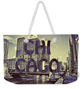 Bold Chicago Weekender Tote Bag