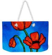 Bold Red Poppies - Colorful Flowers Art Weekender Tote Bag