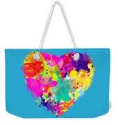 Bold Watercolor Heart - Tee Shirt Design Weekender Tote Bag