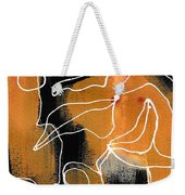 Bold White Lines Two Weekender Tote Bag