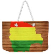Bolivia Rustic Map On Wood Weekender Tote Bag