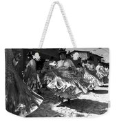 Bolivian Dance Black And White Weekender Tote Bag