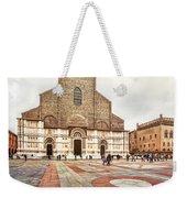 Bologna, Italy San Petronio Basilica Facade Crescentone Weekender Tote Bag
