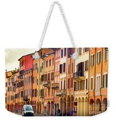 Bologna Window Balcony Texture Colorful Italy Buildings Weekender Tote Bag