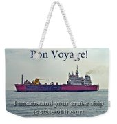 Bon Voyage Greeting Card - Enjoy Your Cruise Weekender Tote Bag